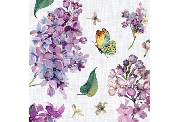 Duni Tissue Servietten Sweet Butterfly Lilac 33 x 33 cm 20 Stück