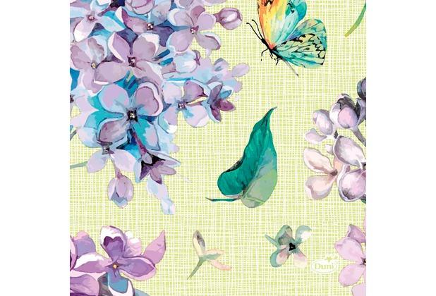 Duni Tissue Servietten Sweet Butterfly Lime 24 x 24 cm 20 Stück
