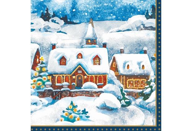 Duni Tissue Servietten Winter Village 24 x 24 cm 20 Stück