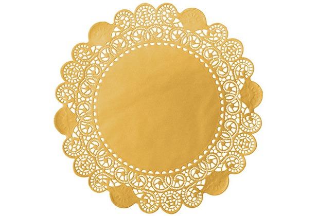 Duni Torten-Spitzen rund gold, ø 36 cm, 100 Stück