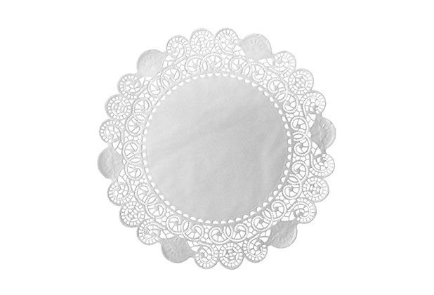 Duni Torten-Spitzen rund weiß, ø 12 cm, 250 Stück