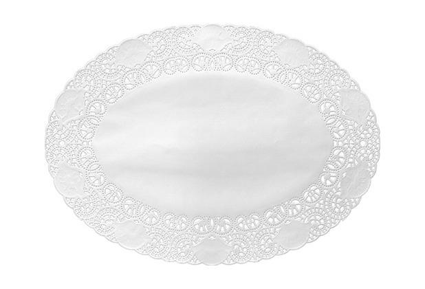 Duni Tortenspitzen oval weiß 19 x 27 cm 250 St.