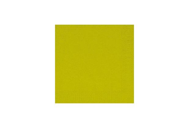 Duni Zelltuch-Servietten 33 x 33 cm 1 lagig 1/4 Falz kiwi, 500 Stück