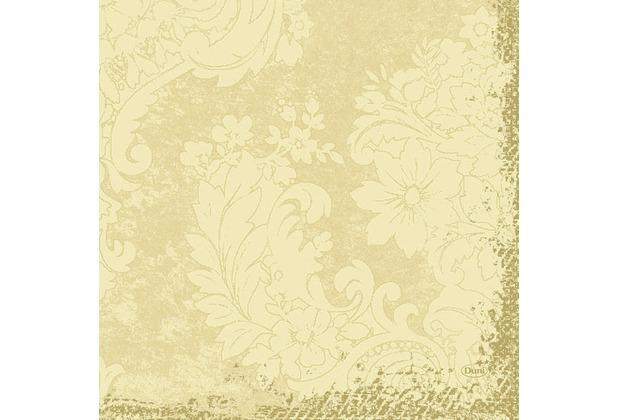 Duni Zelltuch-Servietten 3 lagig 1/4 Falz 33 x 33 cm Royal Cream, 250 Stück