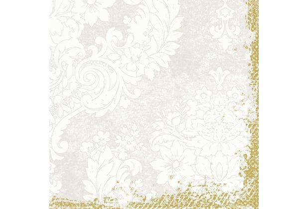 Duni Zelltuch-Servietten 3 lagig 1/4 Falz 40 x 40 cm Royal White, 250 Stück