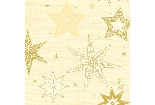 Duni Zelltuchservietten 33 x 33 cm Star Stories Cream, 250 Stück
