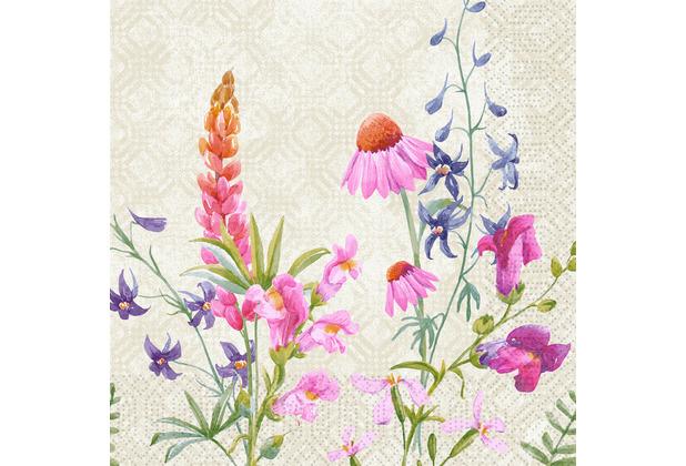 Duni Zelltuchservietten Floret 40 x 40 cm 250 Stück