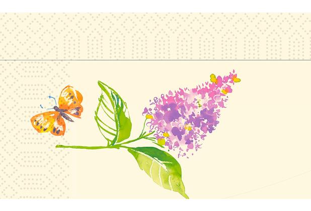 Duni Zelltuchservietten Sweet Spring 33 x 32 cm 300 Stück