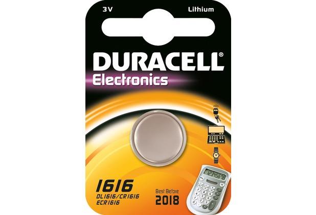 Duracell Batterie Lithium, Knopfzelle, CR1616, 3V Electronics, Retail Blister (1-Pack)