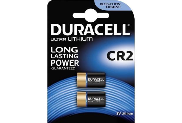 Duracell Batterie Lithium, Photo, CR2, 3V Ultra, Retail Blister (2-Pack)