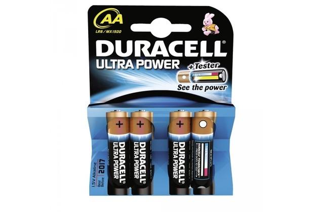 Duracell Battery Alkaline AA 4er Ultra Power