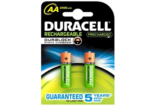 Duracell Battery Supreme Akku AA 2er 2400mAh Precharged