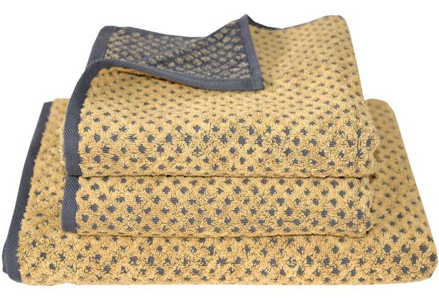 Dyckhoff Frottierserie Golden Shades gold gepunktet Handtuch 50 x 100 cm, 6 Stück
