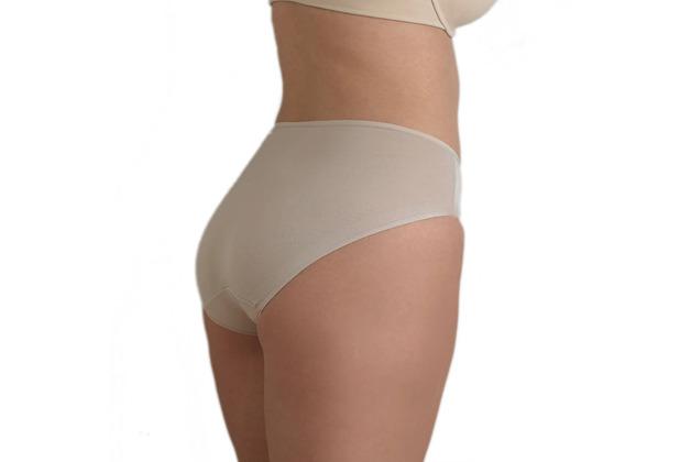 Edgies Daywear Bikinislip Unterhose Slip Lasercut slip Microfaser Unsichtbares Höschen mit Silikonabschluss Haut L (42)
