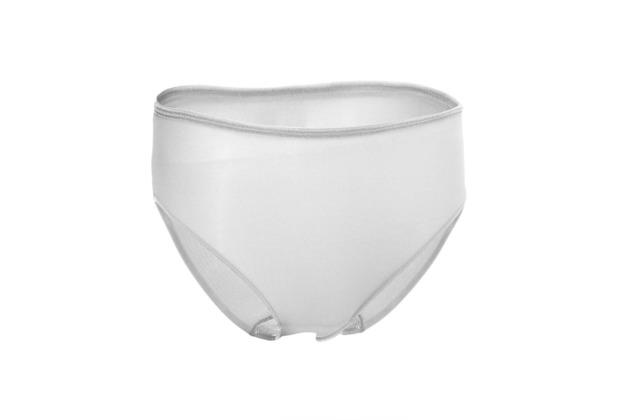 Edgies Daywear Hüftslip Unterhose Slip Lasercut slip Microfaser Unsichtbares Höschen mit Silikonabschluss Weiß L (42)