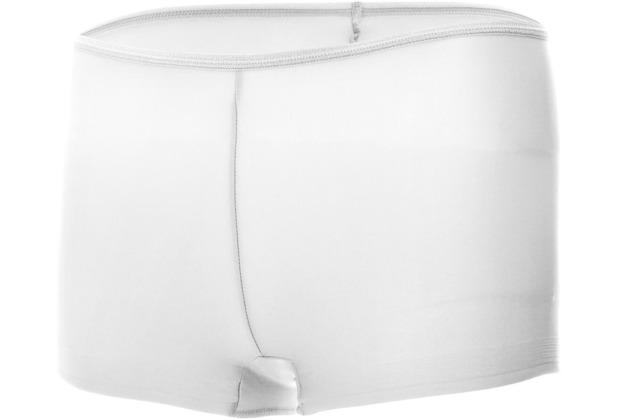 Edgies Daywear Panty Unterhose Slip Lasercut slip Microfaser Unsichtbares Höschen mit Silikonabschluss Weiß L (42)