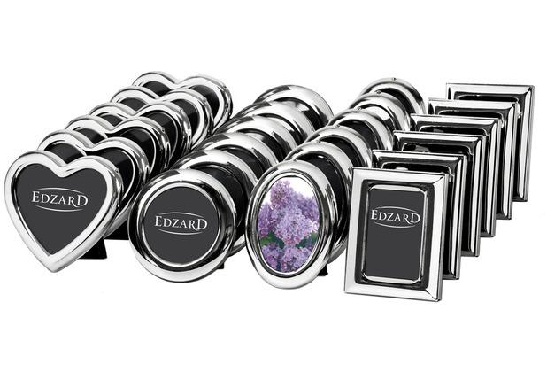 EDZARD Display mit 24 Rahmen