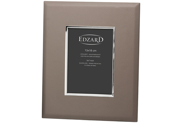 EDZARD Fotorahmen Finn 13x18 cm, grau