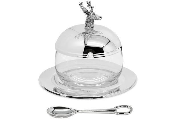 EDZARD Marmeladenglas Hirsch H 11 cm