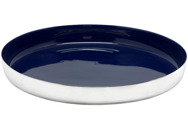 EDZARD Tablett Clemens blau Ø 40 cm