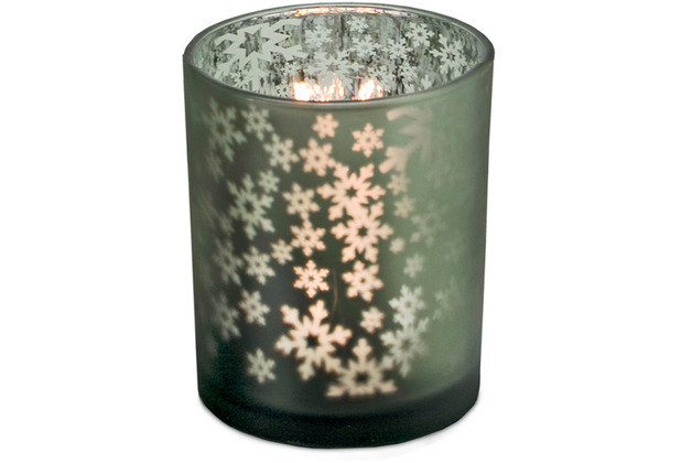 EDZARD Teelicht Schneeflocke H 13 cm