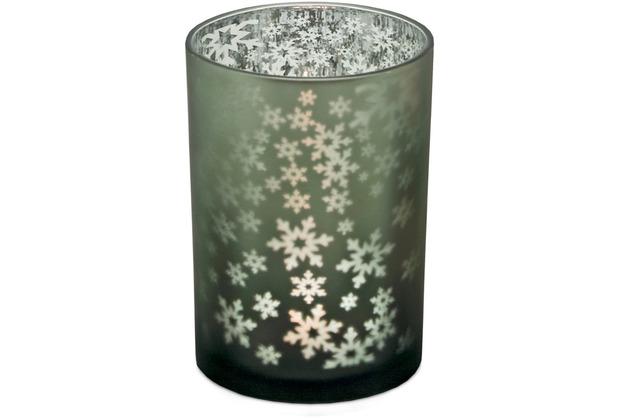 EDZARD Teelicht Schneeflocke H 18 cm