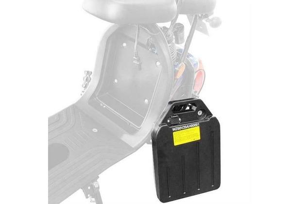 eFlux Chopper Elektro Scooter 1500 Watt Zusatzbatterie 60V