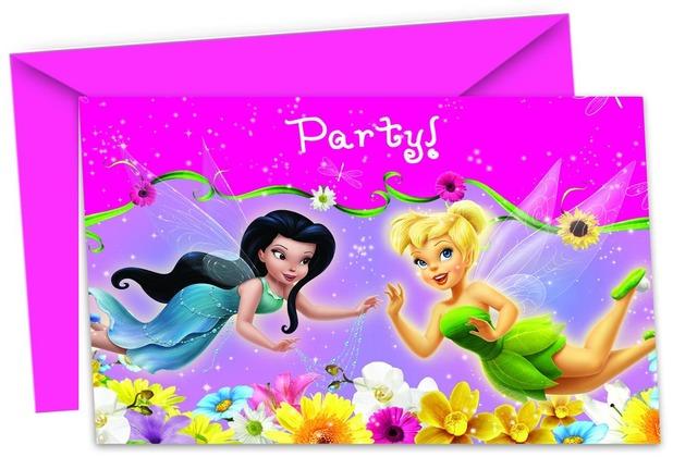 "PROCOS Einladungskarte + Briefumschlag, Motiv \""Fairies Springtime\"", je 6 Stück"