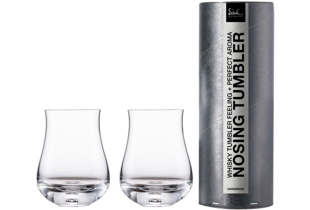Eisch Gentleman Whisky Nosing Tumbler 128/8, 2 Stk.i.Geschenkröhre
