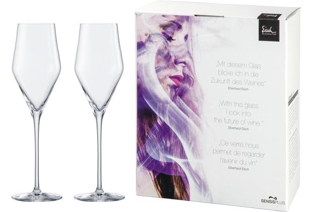 Eisch Sky Sensis Plus Champagner 518/7 - 2 Stück im Geschenkkarton