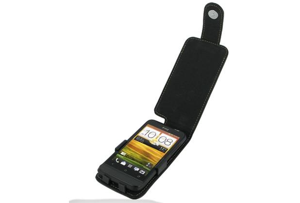Eixo Ledertasche Flip für HTC One V