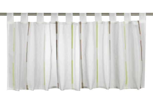Elbersdrucke Bistrogardine Calypso 03 weiß-grün-braun 140 x 48 cm
