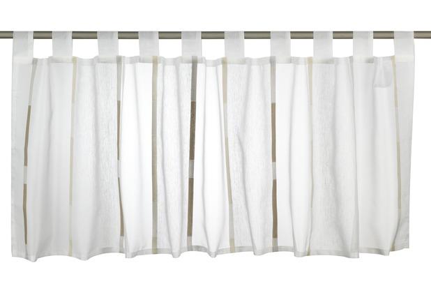 Elbersdrucke Bistrogardine Calypso 06 weiß-ecru-braun 140 x 48 cm