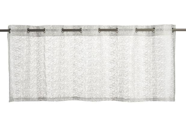 Elbersdrucke Bistrogardine Network 09 weiß 140 x 48 cm