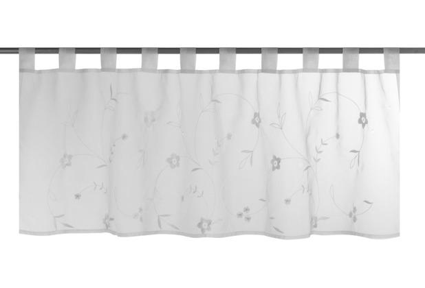 Elbersdrucke Bistrogardine Petite Fleur 00 weiß 140 x 48 cm