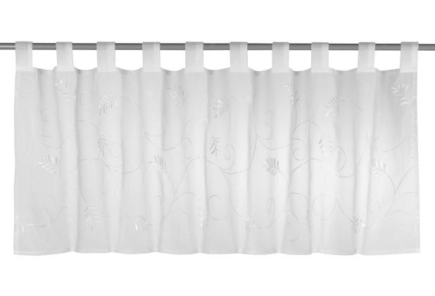 Elbersdrucke Bistrogardine Salon 00 weiß 140 x 48 cm