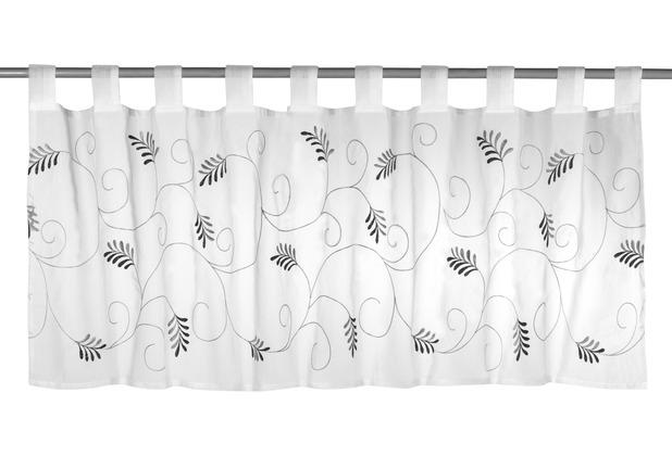 Elbersdrucke Bistrogardine Salon 07 weiß-schwarz 140 x 48 cm