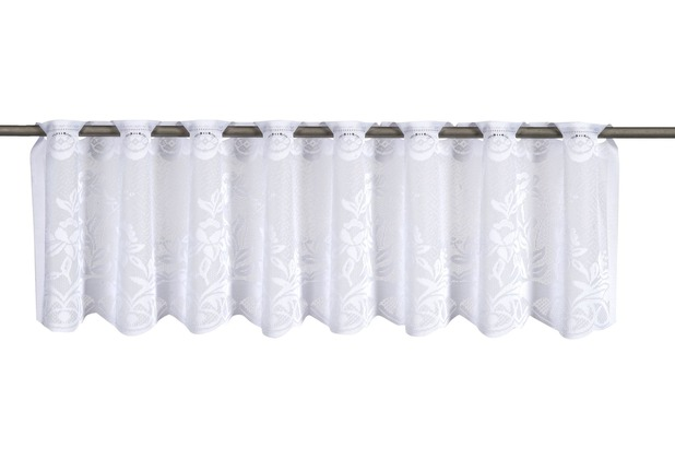 Elbersdrucke Cafehausgardine 1129 weiß 30x160 weiß 160 x 30 cm