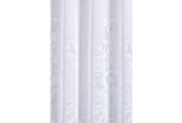 Elbersdrucke Cafehausgardine 1129 weiß 60x160 weiß 160 x 60 cm