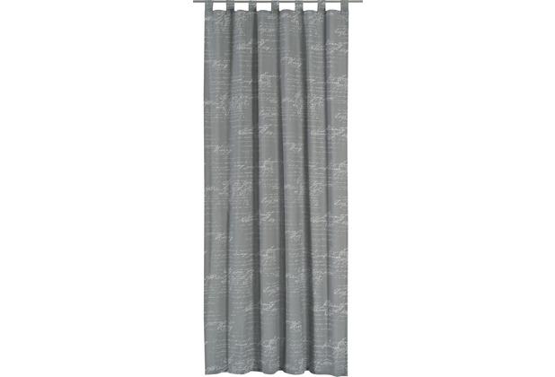 Elbersdrucke Gardine Loveletter Deko grau - weiß