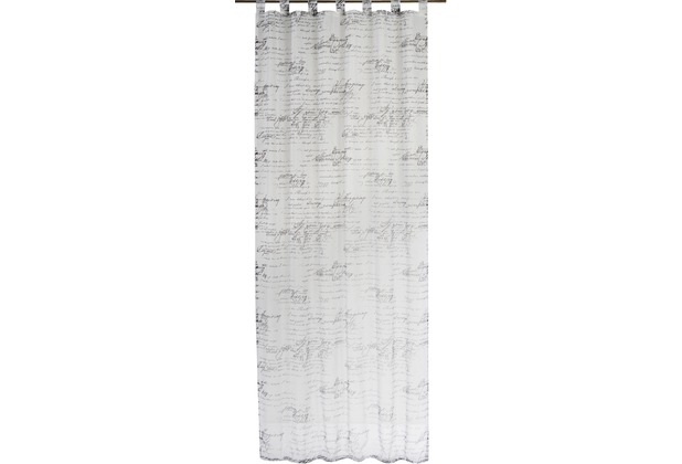 Elbersdrucke Gardine Loveletter schwarz - weiß