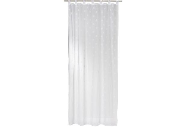 Elbersdrucke Gardine Stars Allover 00 weiß 140 x 255 cm