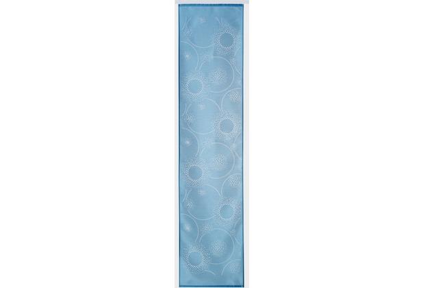 Elbersdrucke Flächenvorhang Cosmos 01 blau 60 x 245 cm ohne Paneelwagen