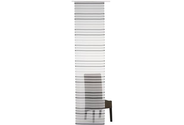 Elbersdrucke Flächenvorhang Feel Good 07 weiß-grau 60 x 245 cm