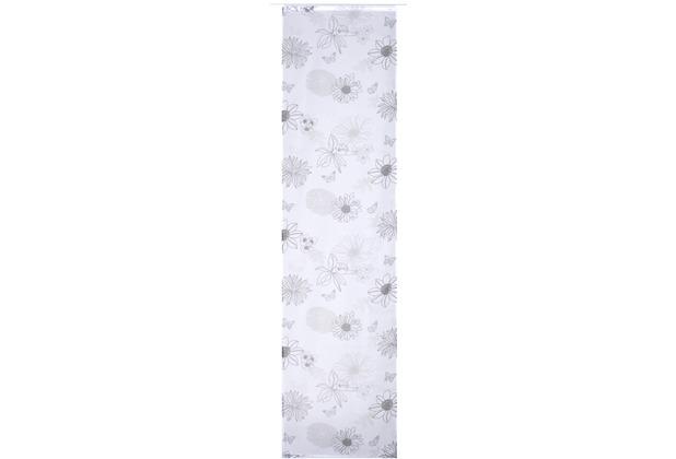 elbersdrucke fl chenvorhang flower mix 07 wei schwarz grau 60 x 245 cm ohne paneelwagen. Black Bedroom Furniture Sets. Home Design Ideas