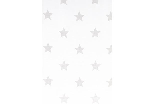 Elbersdrucke Flächenvorhang Stars Allover 00 weiß 60 x 245 cm