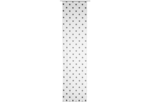 Elbersdrucke Flächenvorhang Stars Allover 07 weiß-grau 60 x 245 cm