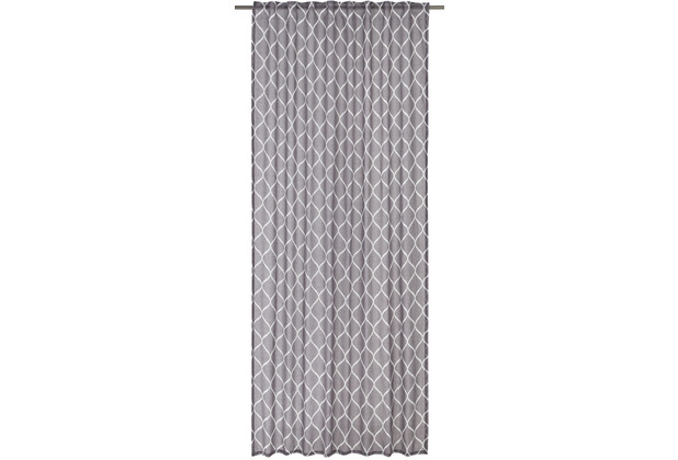 Elbersdrucke Gardine Alea grau 140 x 255 cm