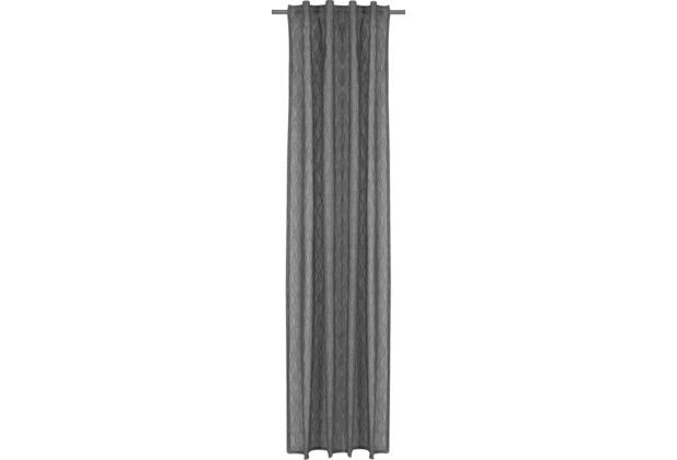 Elbersdrucke Gardine Hometime grau 140 x 255 cm