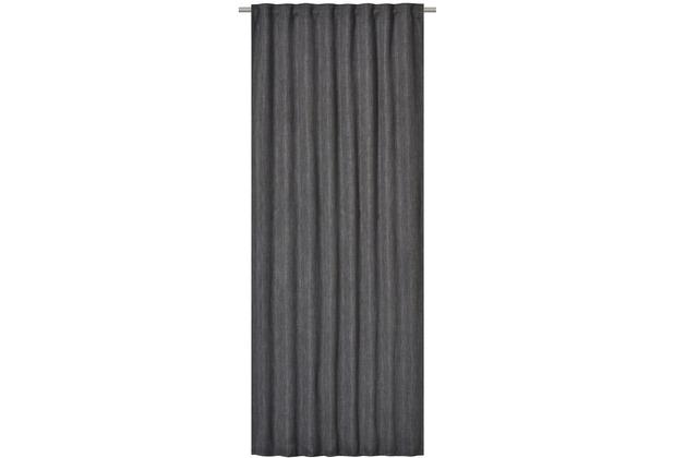 Elbersdrucke Gardine Monza dunkelgrau 135 x 255 cm